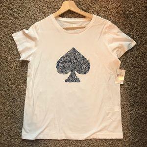 Kate Spade Floral Spade Tee t Shirt OUMU1103